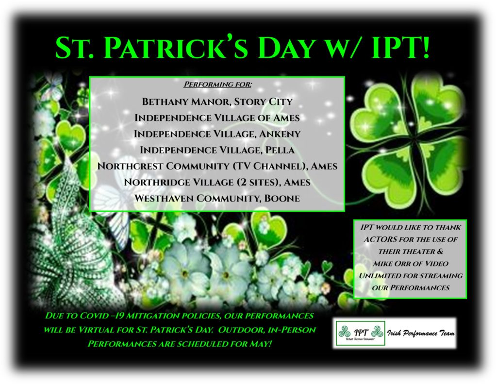 IPT Performs Virtually for St. Patrick's Day!